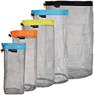 Ultralight Stuff Sacks Nylon Mesh Drawstring Storage Bag for Camping Travel Hiking Outdoor Sports