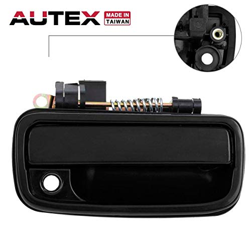 AUTEX Exterior Door Handle Front Right Passenger Side Compatible with Toyota Tacoma 1995-2004 Door Handle Replacement for Toyota Hilux 04-14 79345 RH