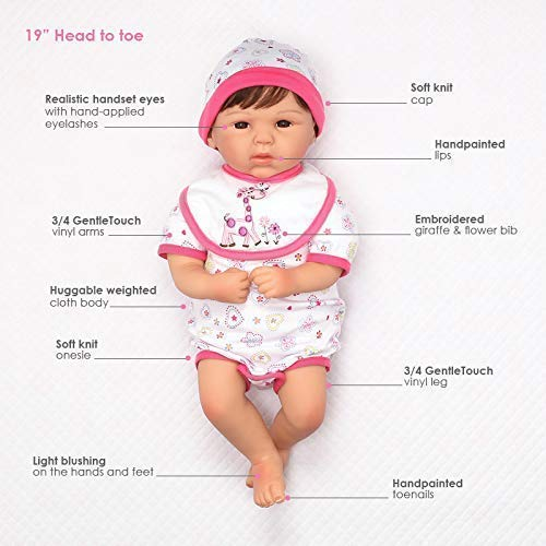 Paradise Galleries Lifelike Realistic Weighted Baby Doll: Paradise Galleries Reborn Baby Doll Lifelike Realistic