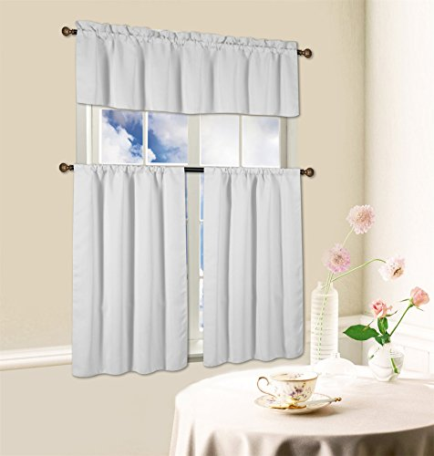 blackout kitchen curtain set