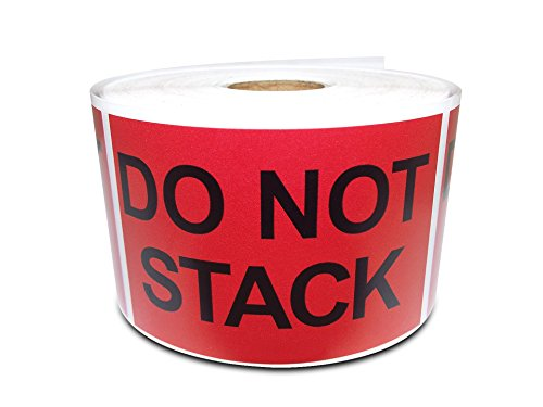 "2"" X 3"" Do Not Stack, Preprinted Shipping Instruction Message Warning Labels (1 Roll, 500 Stickers/Roll)"