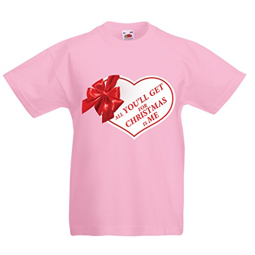 lepni.me T Shirts for Kids, Christmas Vacation Shirt - Holiday Clothes (7-8 Years Pink Multi Color)]()