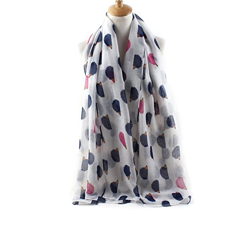ctshow hedgehog Print Voile Print Scarf Fashionable Women Scarves shawl - Hedgehog Print