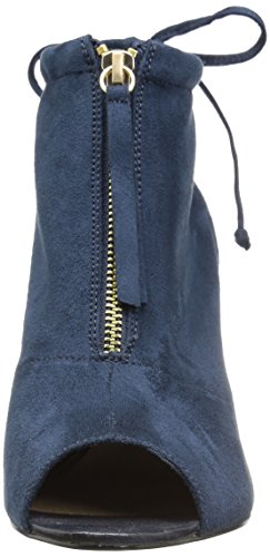 Bella Vita Womens Nicky II Ankle Bootie, Navy Super Suede, 11 W US