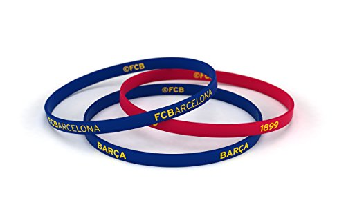 Fútbol Club Barcelona Bracelet Classic Blue and Red Standard for Men | Barça Silicone Wristband | Support the FCBarcelona with an blaugrana official product | FCB (World Soccer Bracelet)