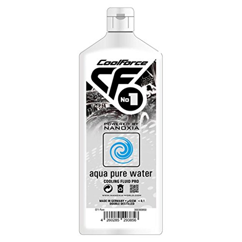 Nanoxia Coolforce Cooling Liquid Cf No.1 Distilled Water/Clear Ph 2.0-3.0 1.000 Ml Bottle CF1 Pure