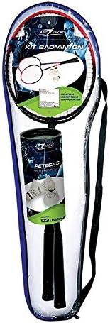 Kit Badminton Art Sport 2 Raquetes + 3 Petecas + Bolsa