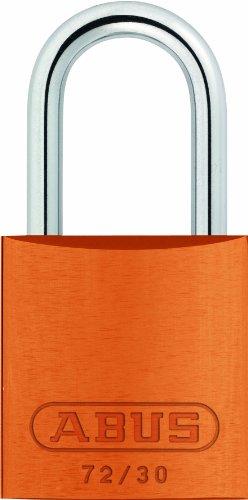 ABUS 72/30 Aluminum Safety Padlock Orange Keyed (Master Orange Padlock)