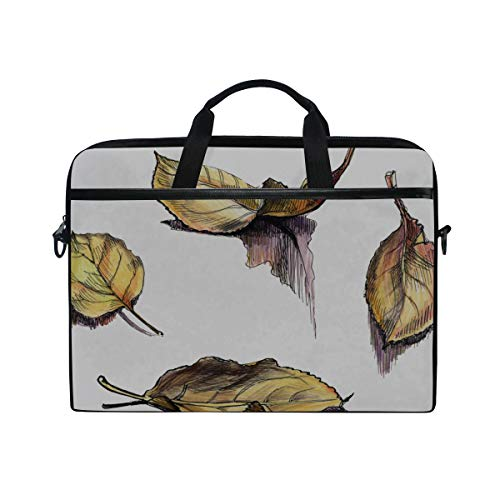 College Students Business People Office Workers Briefcase Messenger Shoulder Bag for Men Women Laptop Bag with Pumpkins 15-15.4 Inch Laptop Case