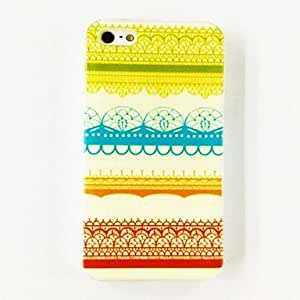 Patrón de rayas de colores de plástico duro caso para iPhone 5/5S , Multicolor
