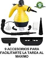 Vaporeta de Limpieza de Mano Portátil Potente y Multiusos para Quitar Manchas en Tapicería de Coche, Hogar, Cocinas, Alfombras, Cristales, Sofá | ...