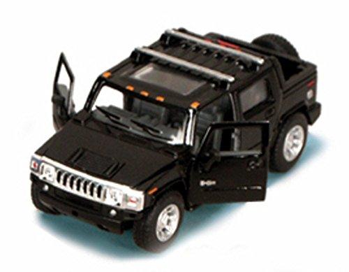 - 2005 Hummer H2 SUT Pickup Truck, Black - Kinsmart 5097D - 1/40 scale Diecast Model Toy Car