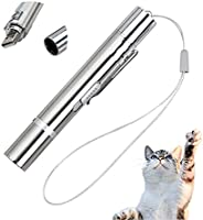 HJHIWE Cat Laser Toy Pointer for Indoor Cat and Dog, Kitten Hunting Toy with 5 Patterns, Funny Cat Stick for C
