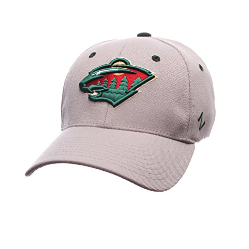 Zephyr NHL Minnesota Wild Men's Breakaway Cap, Large, Gray