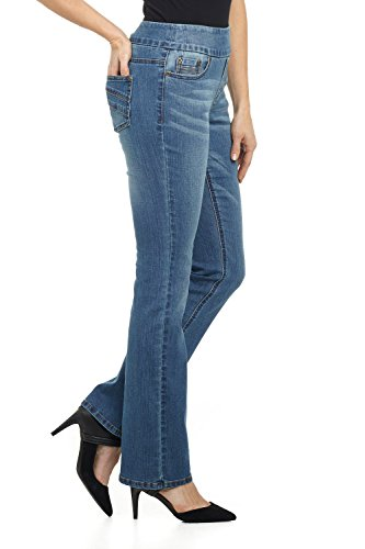 398056a88 Rekucci Jeans Women's Ease in to Comfort Fit Pull-On Stretch Bootcut Denim  Pants at Amazon Women's Jeans store