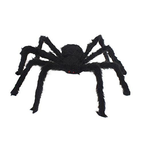 GZQ Black Spider Plush Puppet Toy / Halloween Decor -
