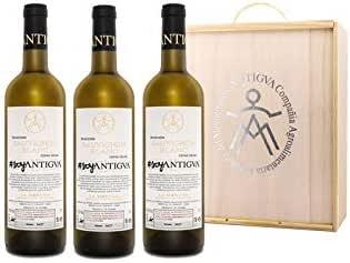 Vino Blanco - SAUVIGNON BLANC 100% - Selección Cepas Viejas - Estuche Madera 3 botellas: Amazon.es: Alimentación y bebidas