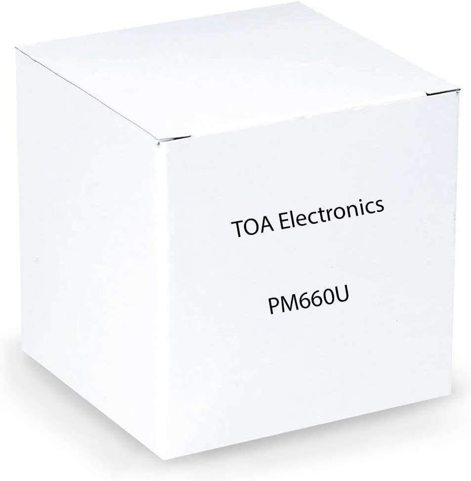 TOA Electronics PM-660U Desktop Paging Moving Coil Microphone, 100Hz-10KHz Frequency Response, 600 Ohms Impedance, -58 Sensitivity