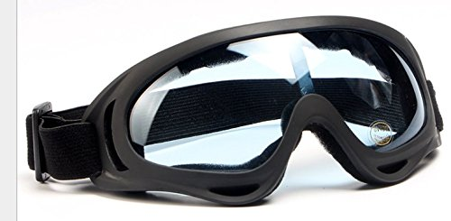 Ski Goggles Snowboard Goggles Full Mirror Coated Lens Spherical Lens UV Protection Anti fog Detachable Strap,light blue