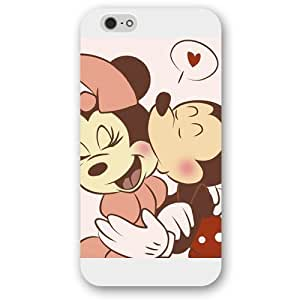 Diy White Hard Plastic Disney Cartoon Mickey Mouse For Iphone 5/5S Case Cover Case, Only fit For Iphone 5/5S Case Cover