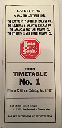 Kansas City Southern Lines Timetable No. 1 Effective for sale  Delivered anywhere in USA
