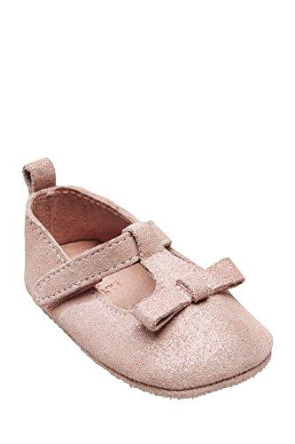 next Bebé Niñas Zapatos Lazo Tira Empeine Bebé Zapatillas Rosa