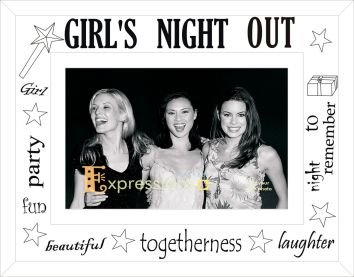 Sixtrees Moments Girls Night Out Photo Frame Glass White Amazon
