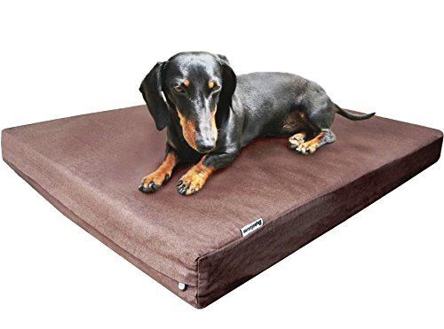 Dogbed4less Durable Orthopedic Memory Foam Pet Bed with Waterproof Internal Case + 2 Washable Denim External Cover for Small to Medium Large Dog Review