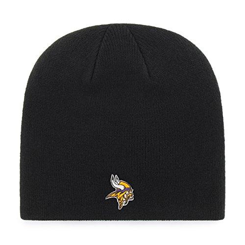 OTS NFL Minnesota Vikings Beanie Knit Cap, Black, One Size