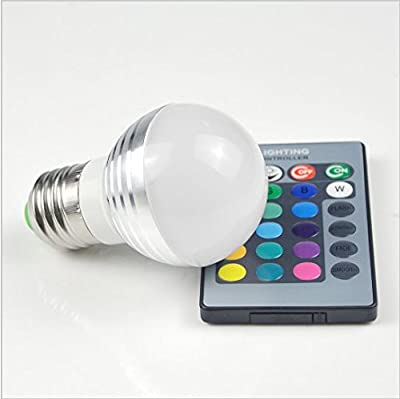 URToys Lovely 16 Colors RGB Christmas Decor Atmosphere LED Night light E27 3W 85-265V Dimmable LED lamp Spotlight Bulb With 24Keys IR Remote Control