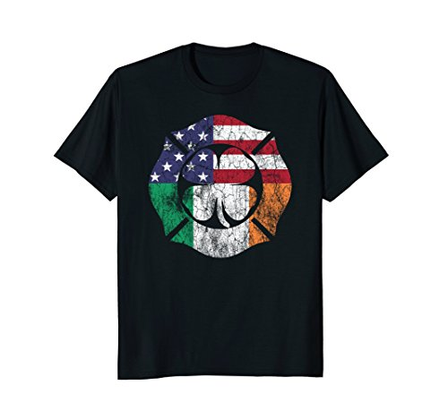 Firefighter St. Patrick's Day Shirt Irish Flag Shamrock - Firefighter Sunglasses