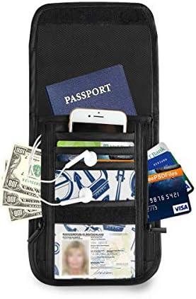 トラベルウォレット ミニ ネックポーチトラベルポーチ ポータブル アンカー 小さな財布 斜めのパッケージ 首ひも調節可能 ネックポーチ スキミング防止 男女兼用 トラベルポーチ カードケース