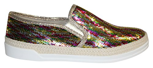 Sneaker Multicoloured Gleaming On Detailing Slip Wanted Sequin q8wWPxgng