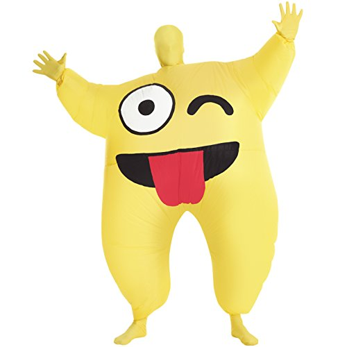Morphsuit Inflatable (Cheeky Emoticon Inflatable Megamorph Blow Up Costume - One size fits)