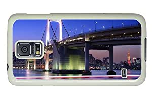 Hipster Samsung Galaxy S5 Cases free shipping rainbow bridge tokyo PC White for Samsung S5 by icecream design