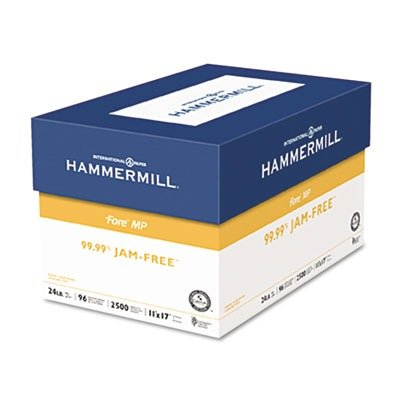 Hammermill Paper, Fore MP Paper, 24lb, 11 x 17, Ledger, 96 Bright, 500 Sheets / 1 Ream, (102848R), Made in the USA ()