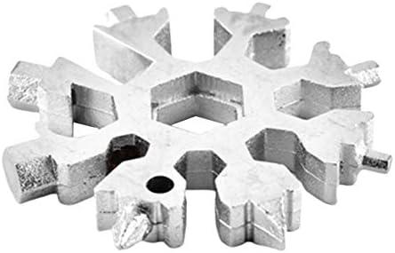 厳選されたSteelMade製ステンレス鋼耐腐食性コンビネーションコンパクトポータブルアウトドア製品スノーフレークツールカード-ホワイト