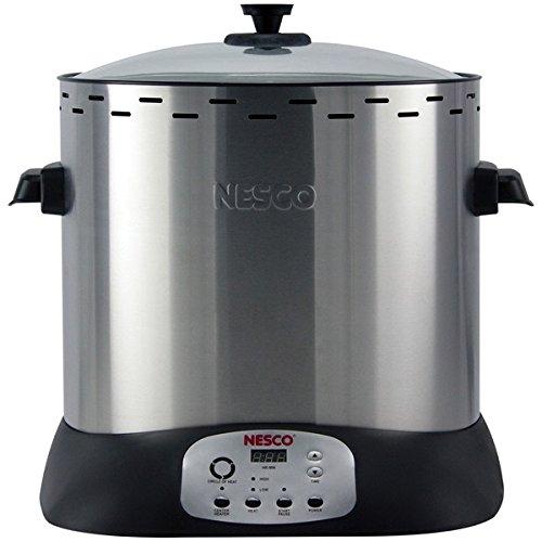 Nesco ITR-01 Upright Turkey Roaster, 1420 Watt, Silver