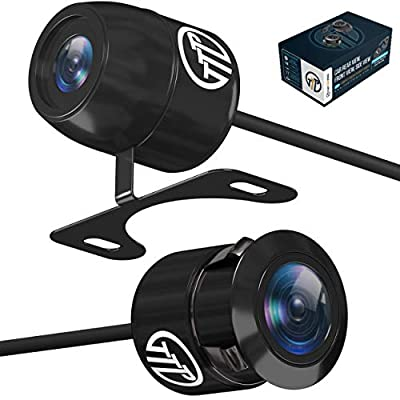 TOPTIERPRO TTP-C12B (2in1) Backup Camera Automotive Reverse Camera 170° Wide Viewing Car Front View/Side View/Rear View Camera & Pinhole Spy Security Camera