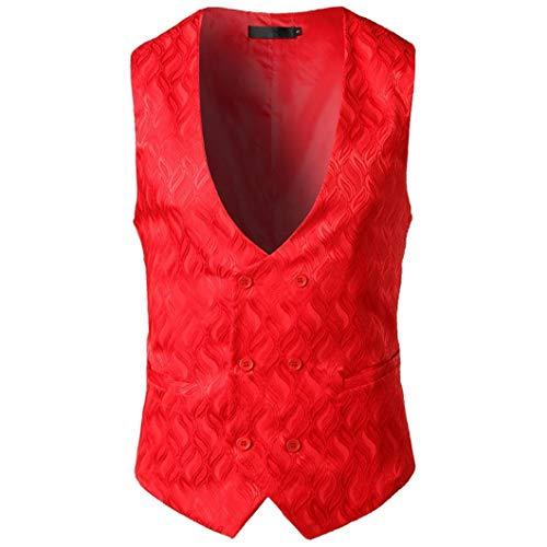 Outwear Rouge Formelles Mode Veste Aimee7 D'affaires Homme Gilet Hauts Vintage Manteau Top 8w6qP