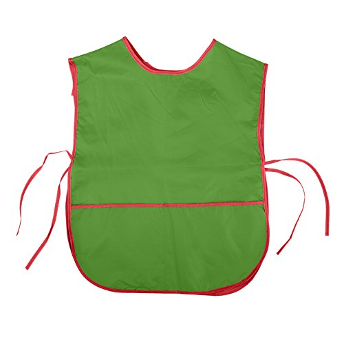 - Colorful Kids PVC Waterproof Art Smock Cobbler Aprons - Green,L