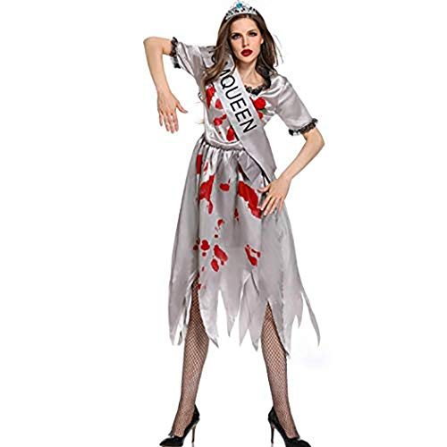 Womens Zombie Corpse Bride Costume Ladies Halloween Fancy Dress Plus Size -