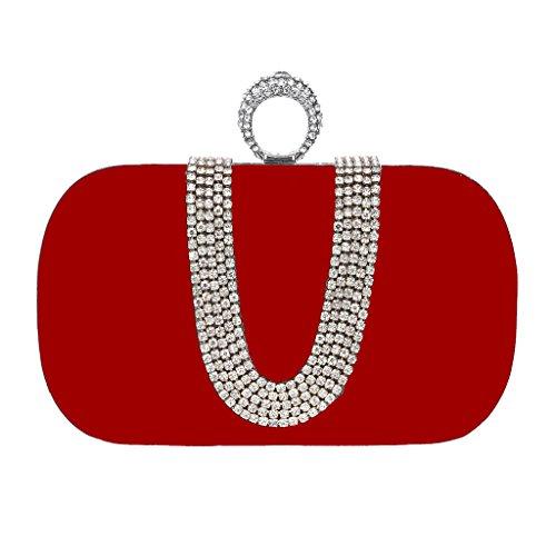 BF-Handbag - Cartera de mano para mujer morado morado talla única Red