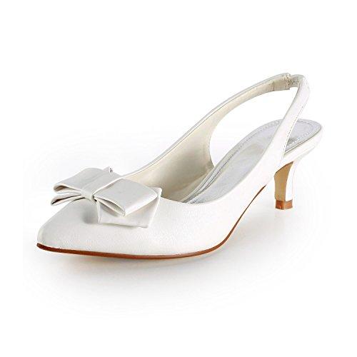 de Miyoopark Heel Zapatos Correa con White Mujer 5cm Tobillo 1USqFwnxU