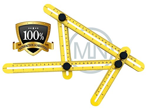 Angle-izer Template Tool, Multi-Angle Ruler Measurement Tool For All Angles And Surfaces | Perfect For Handymen, Engineers, Craftsmen, Builders