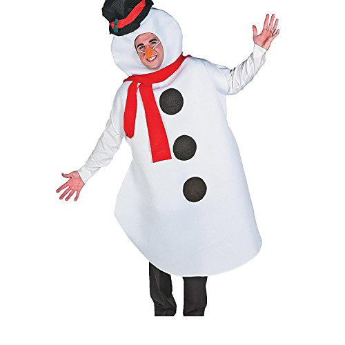 Adult's Large Snowman Costume (With Sticky (Ways To Celebrate Halloween At Home)