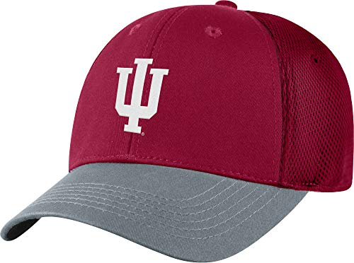 Top of the World Men Indiana Hoosiers Crimson Twill Elite Mesh Hat (OneSize)