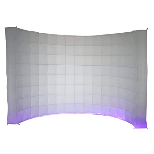 Sayok LED Inflatable Photo Booth Wall for Wedding and Party Come with UL Air Blower 1pc LED Light Strip and Remote Controller(119x59xH91 inches)