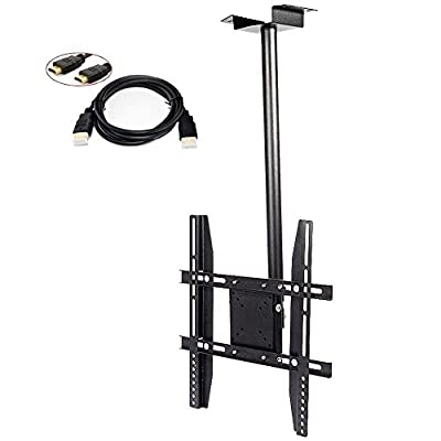 """Ceiling Tilt Swivel LCD LED TV Wall Mount 19 27 32 37 39 42 47 48 50"""" HDMI Cable by United States"""