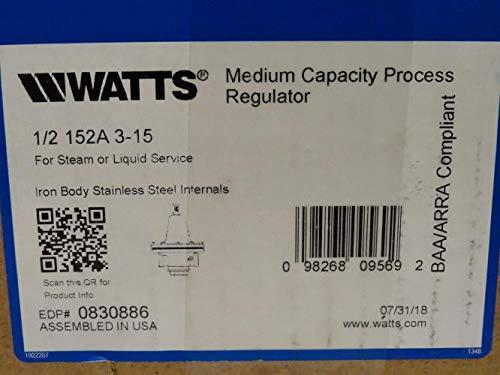Watts 1/2 152A 3-15 Steam Pressure Regulator, 3-15Psi, 1/2NPT by Watts (Image #1)